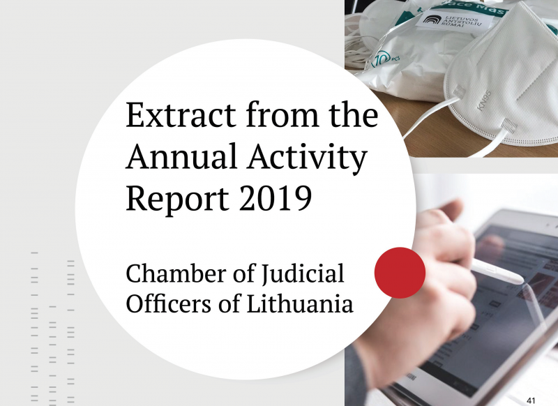 The 20th meeting of Lithuanian judicial officers took place remotely